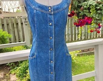 Vintage denim jumper dress