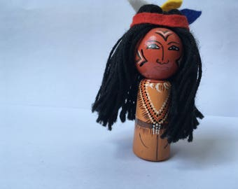 Ronnie finger doll red skin