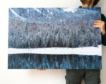 Picture photo braies Lake in forex 100 x 66 cm