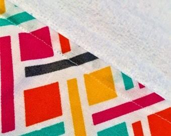 Summer colored burp cloth