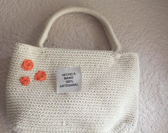 Woven bag with handles