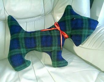 Tartan Scottie Dog Softie/cushion
