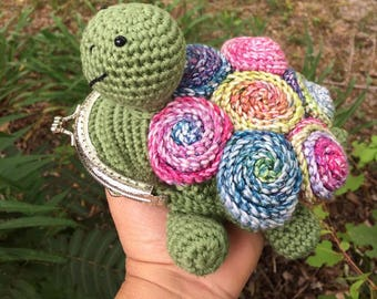 Crochet Tortoise Coin Purse
