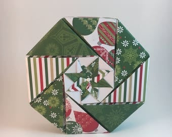 Handcrafted Origami Gift Box - Christmas