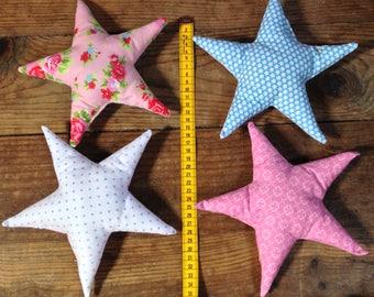 Set of 4 liberty fabric stars