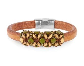 Bracelet Kit Blue Nile Honeycomb with Swarovski® Crystals – Green