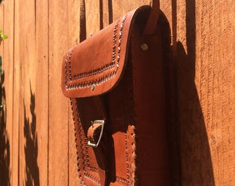 Leather hand made bag