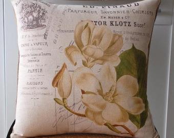 Magnolia Pillow Cover