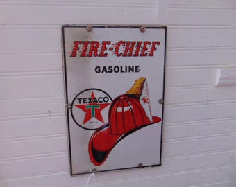 1942 Texaco Fire Chief Sign