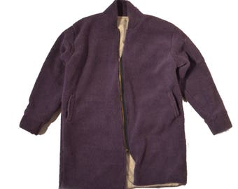 Oversized Purple Trench Bomber