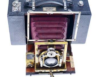 Dr. Krügener Delta horizontal camera roll film camera mint condition approx 1898 SN 83527