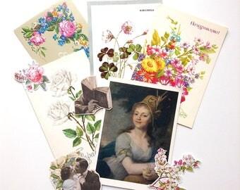 Postcards, ephemera mini set