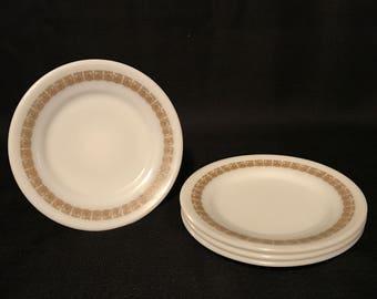 Tiburon Pyrex Milk Glass Restaurant ware / Salad / Sandwich / Dessert / Bread Plates