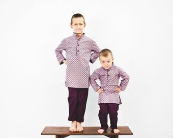 Boy cotton Poplin pajamas