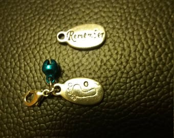 Baby Remembrance purse clip