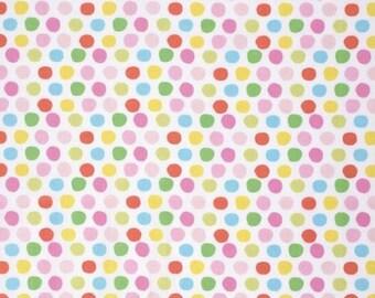 Tiddlywinks Mulit Dots Fabric - Dena Designs - Free Spirit Fabric - Multi Polka Dots