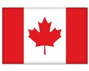 CANADA Canadian Flag car bumper sticker decal