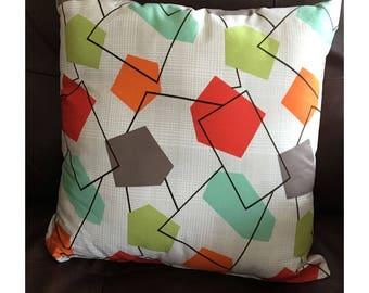 Geometric Mid Century Throw Pillow