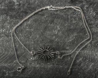 Sun power 925 sterling silver necklace