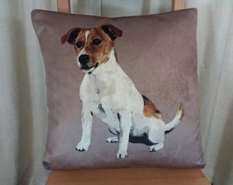 Jack russell cushion, Jack russell pillow, dog cushion, animal pillow, scatter cushion, dog print cushion