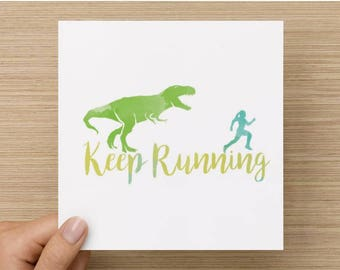Keep Running runner's greeting card - Limited print run!