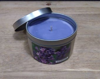 Lavender scented soy candle all natural and hand poured