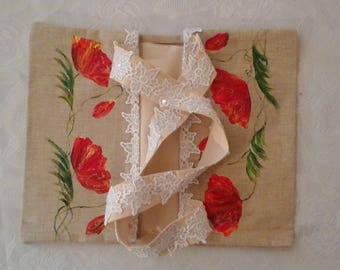 hand painted purse poppy cake