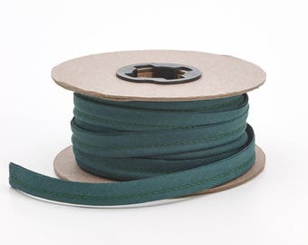 "Broadcloth cord piping, 1/2"" Wide, 15 yds, Hunter green"