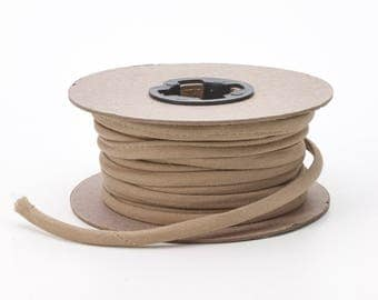 Broadcloth spaghetti, 1/4-inch Wide, 15 yds, Khaki
