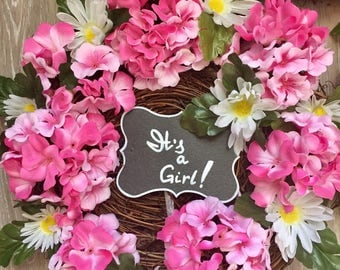Chic Rustic the baby girl shower wreaths set ( 3 pcs)  it's a girl