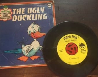 Peter Pan The Ugly Duckling Story on 45 RPM Vintage Collectible