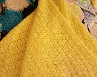 Yellow Diamonds Baby Blanket