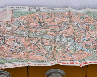 Paris Vintage Tourist Map