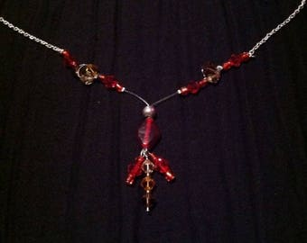 Pendant dangle beaded necklace