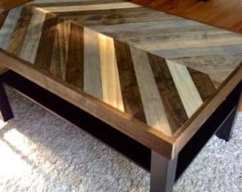 Custom wood table top.
