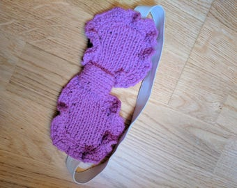 Knitted Purple Sleep Mask