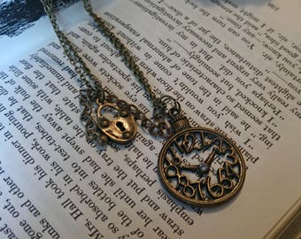 Lock n Clock Necklace