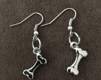 Dog Bone Dangle Earrings