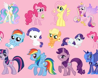 22 My Little Pony ClipArt - Digital , PNG, image, picture,  oil painting, drawing,llustration, art , birthday,handicraft