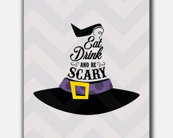 Eat Drink And Be Scary Printable,Eat Drink And Be Scary Art,Eat Drink And Be Scary PNG File,Eat Drink And Scary Cut Files