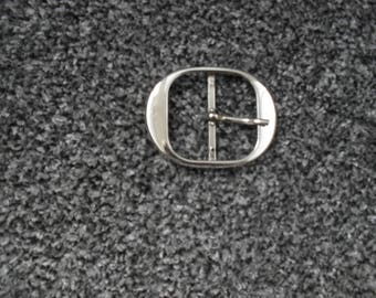 60mm x 47mm Nickel plated, steel belt buckle