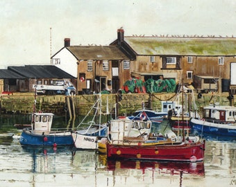 Lyme Harbour Giclee Print