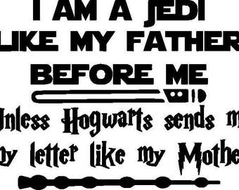 Star Wars - Harry Potter, Vinyl Decal