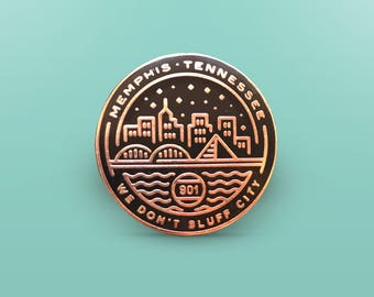 Memphis Seal Enamel Pin