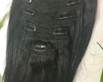 Ultra thick 100% human hair extensions 6 wefts PER clip!!