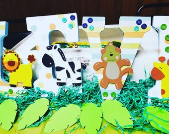 Kustom Made Jungle Themed Letters