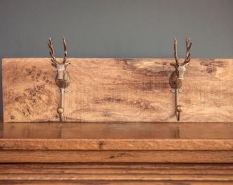 Oak Stag Coat Hook