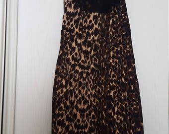 Kelly brook vintage style leopard print dress