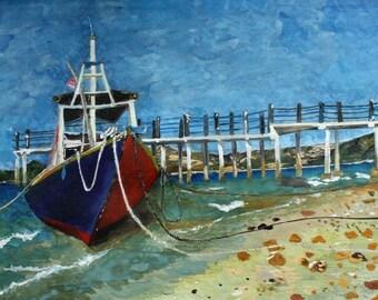 Tide. Ship boat