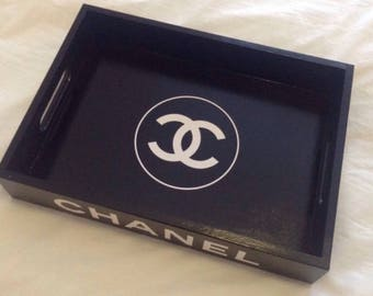 CHANEL Black Tray